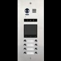 Panou de apel video modular cu camera wide angle,  8 butoane de apel si un locas blank