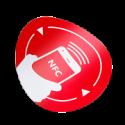 Tag NFC autoadeziv, rotund, antimetal