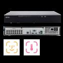 NVR AI 32 canale, 12MP, H.265+/H.264, Recunoastere faciala, 4 HDD, 16 POE