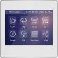"Panou control TFT 3.5"" cu touch screen - incastrat, argintiu"