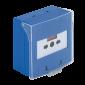 Buton iesire de urgenta aplicabil, cu 3 comutatoare NC-COM-NO, din plastic, albastru