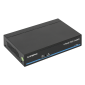 Switch PoE 5 porturi (4 downlink, 1 uplink) pentru sisteme de supraveghere