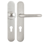 Set manere cu clanta tubulara si buton fix drept cu shield interax 85