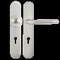 Set manere cu clanta tubulara si buton fix drept cu shield interax 90
