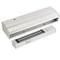 Electromagnet aplicabil de 280 kg forta, cu led de stare, monitorizare si temporizare pentru usi glisante