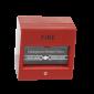 Betörhető üvegű tűzjelző, piros színű