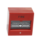 Break glass fire emergency exit release, red