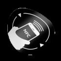 Eticheta NFC autoadeziva, rotunda