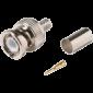 Pachet de 10 bucati de conectori BNCM (tata) - coaxial, sertizabil, RG59