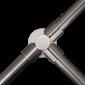 "Stalp intermediar in forma de ""T"" din INOX, suport balustrade din INOX"