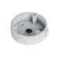"Cutie de jonctiune tip ""baza inalta"", aluminiu, alba, Φ110 x 34 mm"