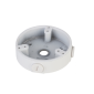 "Cutie de jonctiune tip ""baza inalta"", aluminiu, alba, Φ122 x 34.2 mm"