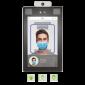 Terminal de control acces și pontaj cu recunoaștere facială și palmă, detecție temperatură și mască, montare pe turnichet